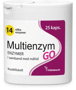 Multienzym GO Matsmältningsenzym 25 styck