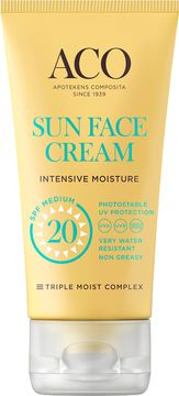 ACO Sun Face Cream SPF 20 Solskydd, 50 ml