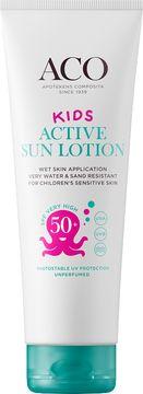 ACO Active Sun Lotion SPF 50+ Solskydd för barn, 250 ml