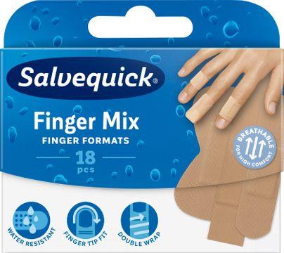 Salvequick Finger Mixed-pack Plåster, 18 st
