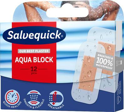 Salvequick Aqua Block Plåster, 12 st