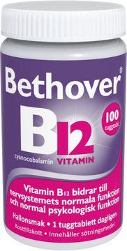 Bethover B12-vitamin Tuggtablett, 100 st