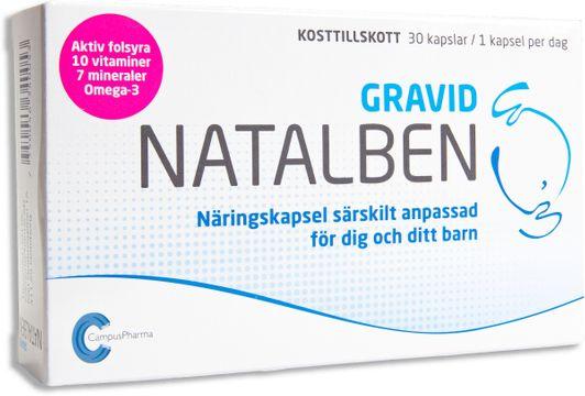 Natalben Gravid Näringstillskott Gravid 30 ST 30 st