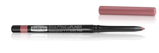 Isadora Sculpting Lip Liner Waterproof 51 Bare Rose, Läppenna