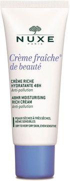 Nuxe 48HR Moisturising Rich Cream Crème Fraîche de Beauté. Ansiktskräm. 30 ml