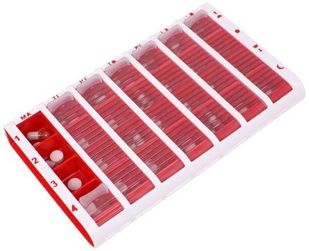 Schine Pill Box L Pillerförvaring, Röd 1 st