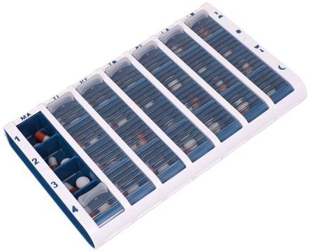 Schine Pill Box L Pillerförvaring, Blå 1