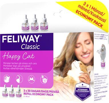 FELIWAY® Classic Feromonrefill till doftavgivare. 3 x 48 ml