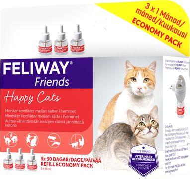 FELIWAY® Friends Feromonrefill till doftavgivare. 3 x 48 ml