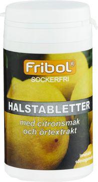 Fribol Sockerfri Halstablett Citron Halstablett, 60 g