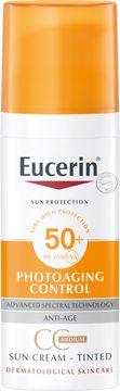 Eucerin Anti-Age Sun Creme Face Tinted 50+ Tonad Solskydd, 50 ml