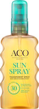 ACO Sun Transparent Spray SPF 30 Solskydd, 175 ml