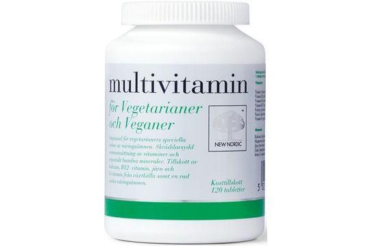 Multivitamin för Vegetarianer och V Kosttillskott 120 st