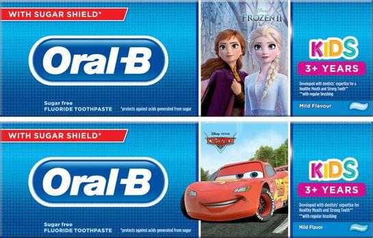 Oral-B Kids Frozen/Cars Tandkräm för barn. 75 ml