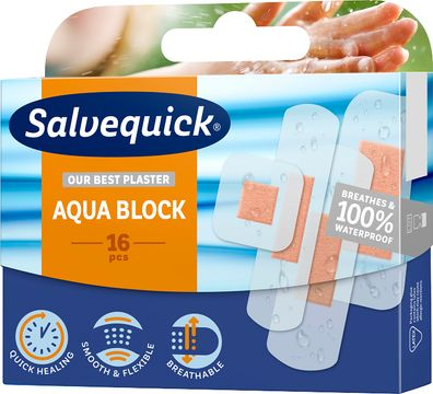 Salvequick Aqua Block Family Pack 16 st