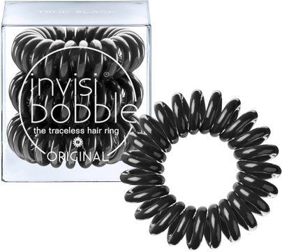 Invisibobble True Black Original. Skonsam hårsnodd. 3 st