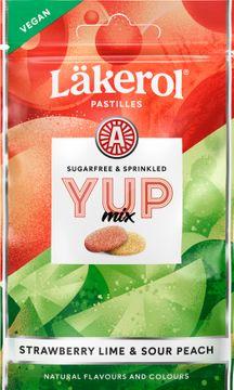 Läkerol YUP Mix Sour Peach&Strawberry Lime 30 gram