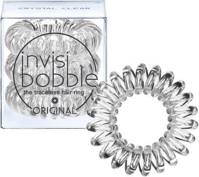 Invisibobble Crystal Clear Original. Skonsam hårsnodd. 3 st