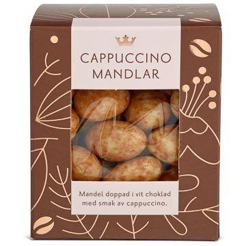 Kronans Apotek Cappuccinomandlar Mandel doppad i vit choklad. 150 g