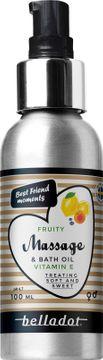 Belladot Fruity massage- och badolja, 100 ml