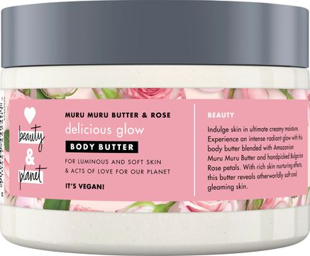 Love Beauty and Planet body butter Bulgarisk ros och murumurusmör. 250 ml