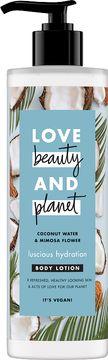 Love Beauty and Planet hudlotion Kokosvatten och mimosa. 400 ml
