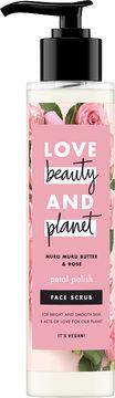 Love Beauty and Planet ansiktsskrubb Muru-murusmör och rosor. 125 ml