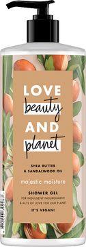 Love Beauty and Planet duschgel Sheasmör och sandelträ. 500 ml