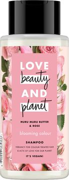 Love Beauty and Planet schampo Murumuru-smör och bulgarisk ros. 400 ml
