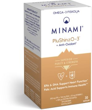 Minami PluShinzO-3 90% Omega-3 Kapslar, 30 st
