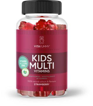 VitaYummy Kids Multivitamin Jordgubb Tuggtabletter med jordgubbssmak, 60 st