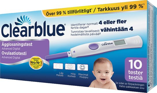 Clearblue Advanced Ägglossningstest Ägglossningstest, 10 st
