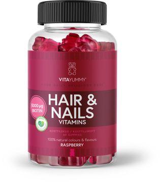 VitaYummy Hair & Nails Hallon Tuggtabletter med hallonsmak, 60 st