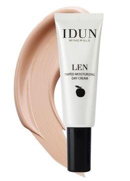 IDUN Minerals Tinted Day Cream Len Light/Medium Färgad dagkräm, 50 ml