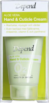 Depend O2 Aloe Vera Hand & Cuticle Cream Hand- och nagelbandskräm, 25 ml