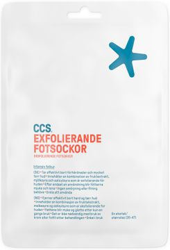 CCS Exfolierande Fotsockor Fotkur, 1 st