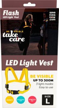 SLN LED Light Vest LED-väst för ökad synlighet strl L. 1 st