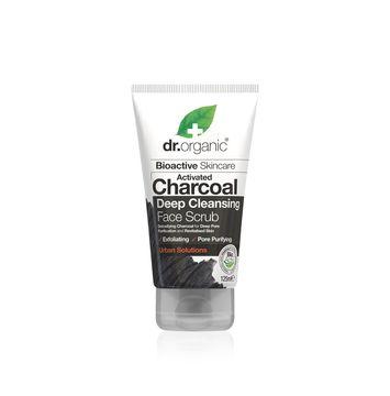 Dr Organic Ansiktsscrub Aktivt Kol Ansiktsskrubb, 125 ml