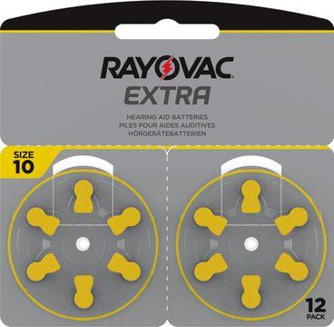 Rayovac Extra advanced Hörapparatsbatterier 10 gul 12 st