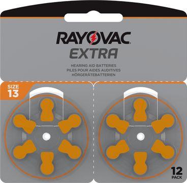 Rayovac Extra advanced Hörapparatsbatterier 13 orange 12 st