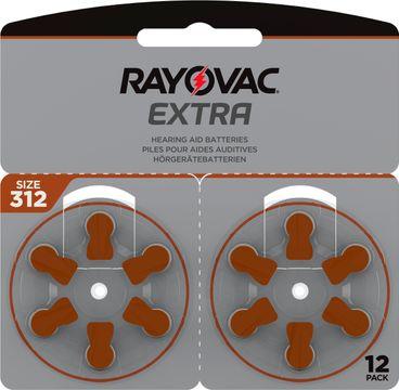 Rayovac Extra advanced Hörapparatsbatterier 312 brun 12 st