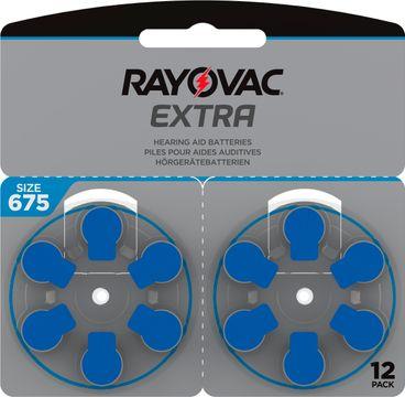 Rayovac Extra advanced Hörapparatsbatterier 675 blå 12 st