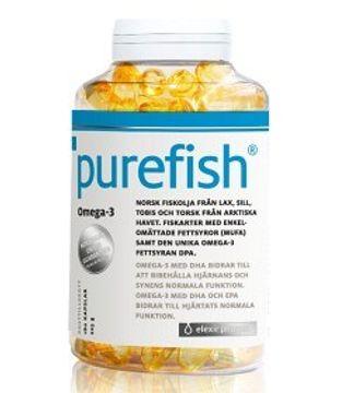 Elexir Pharma Purefish Omega-3 180 kapslar