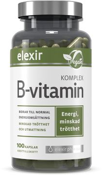 Elexir Pharma B-vitamin Komplex Kosttillskott. 100 st