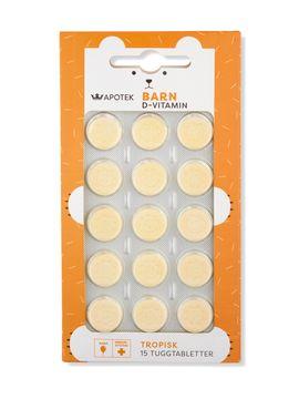 Kronans Apotek D-Vitamin Tropisk Barn Tuggtablett, 15 st