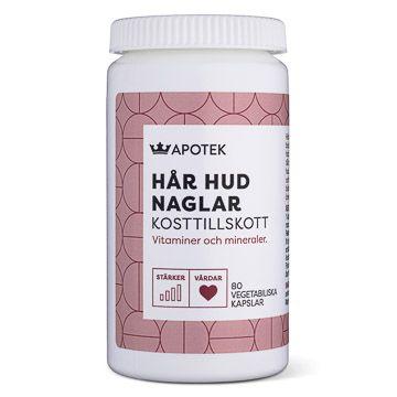 Kronans Apotek Kosttillskott Hår Hud Naglar Vegetabiliska kapslar, 80 st
