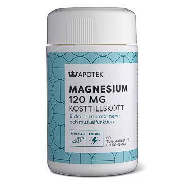 Kronans Apotek Magnesium 120 mg Tuggtabletter med citronsmak, 60 st