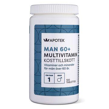 Kronans Apotek Multivitamin Man 60+ 100 tabletter