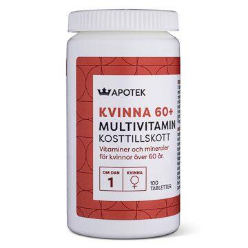 Kronans Apotek Multivitamin Kvinna 60 + Tablett, 100 st