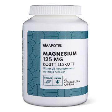 Kronans Apotek Magnesium 125 mg Vegetabiliska kapslar, 90 st